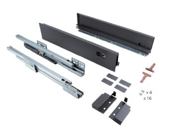 Slim 95 mm exterior drawer with soft close