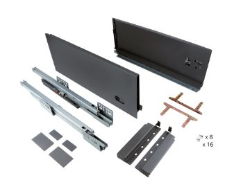 Slim 178 mm exterior drawer with soft close